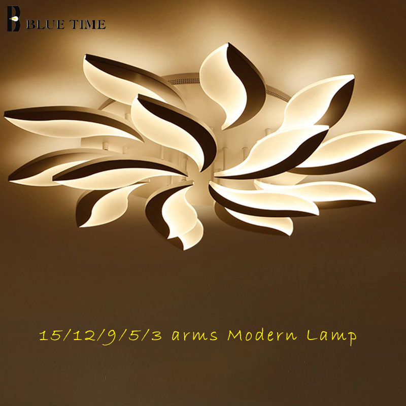 White Acrylic LED Chandelier 110V 220V Modern Ceiling Chandelier Lighting For Living room Bedroom Dining room