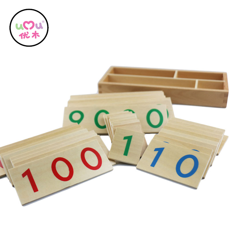 Montessori Educational Wooden Toys Mathematics Math Toys Cards & Counting Math Box Preschool Teaching Aids UB0965H baby montessori education toys dominos children preschool teaching aids counting and stacking board wooden arithmetic math toy