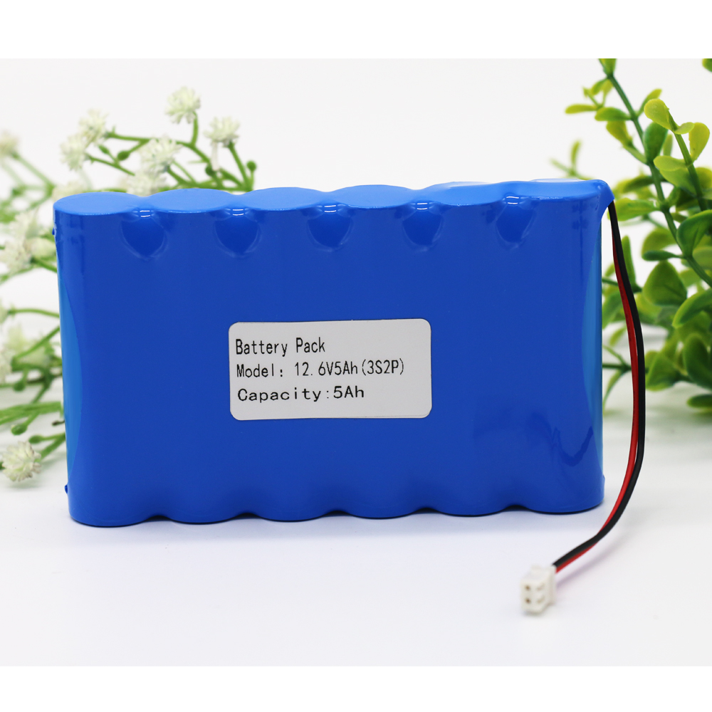 KLUOSI <font><b>12V</b></font> <font><b>Battery</b></font> 3S2P 11.1V /12.6V 5000mAh <font><b>18650</b></font> Lithium-ion <font><b>Battery</b></font> <font><b>Pack</b></font> with 5A BMS for LED Lamp Light Backup Powe Etc image