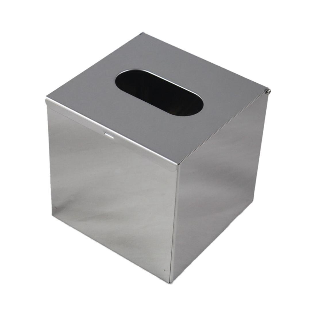 Acier inoxydable Mouchoir Distributeur Cosmétique Serviette boîte de Mouchoirs-Argent