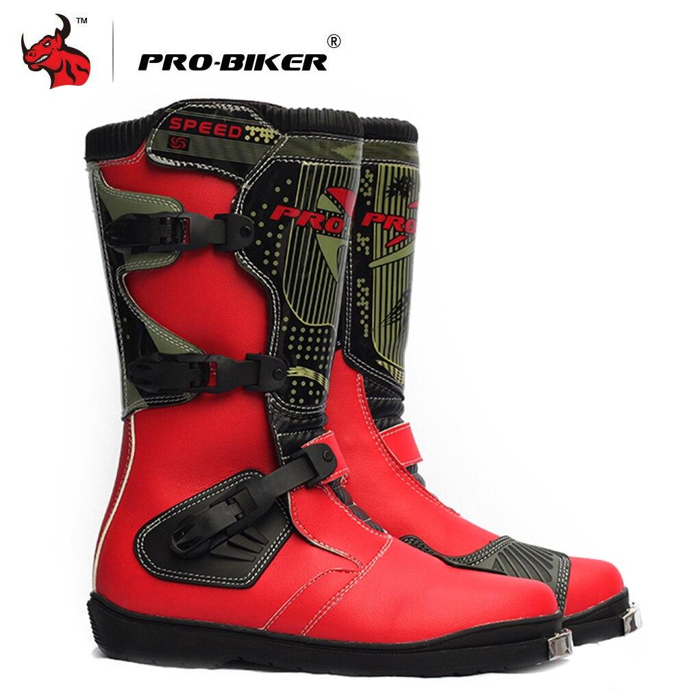 Bottes de Moto PRO-BIKER bottes de Moto de course de vitesse pour hommes bottes de Motocross à hauteur du genou bottes de Moto longues imperméables pour hommes