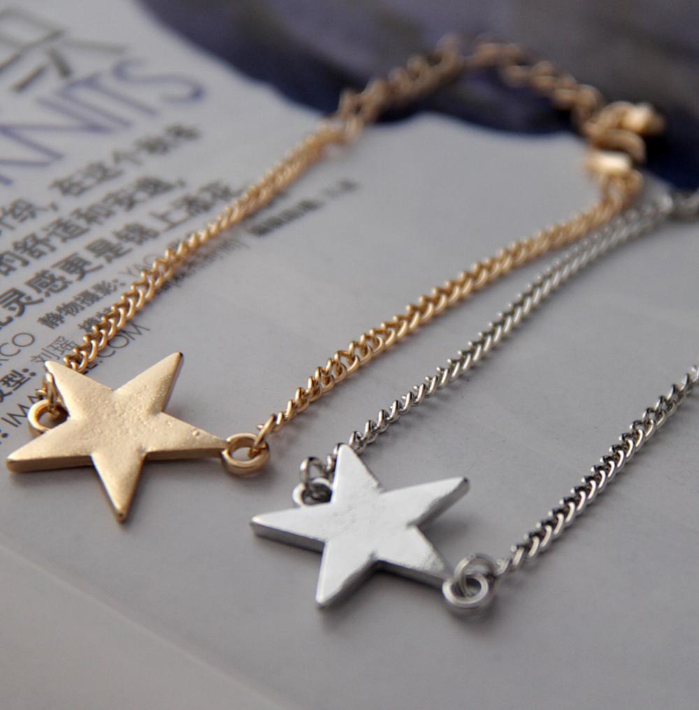 2015 New Fashion Lady Bracelet Best Friends Bracelet Stacked Moon And  Star Friendship Charm Bracelets For