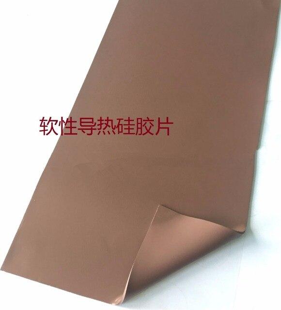 1.0 T * 200*400 MM silicone thermoconducteur pièce 6.5 W/M.K haute thermique conducteur silicone joint personnalisé CPU chaleur conduction pad