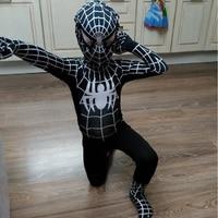 Kids Spandex Spiderman Amazing Black Spiderman Costume Zentai Costume Suit Superhero Spandex Costumes Adult Onesie Boys