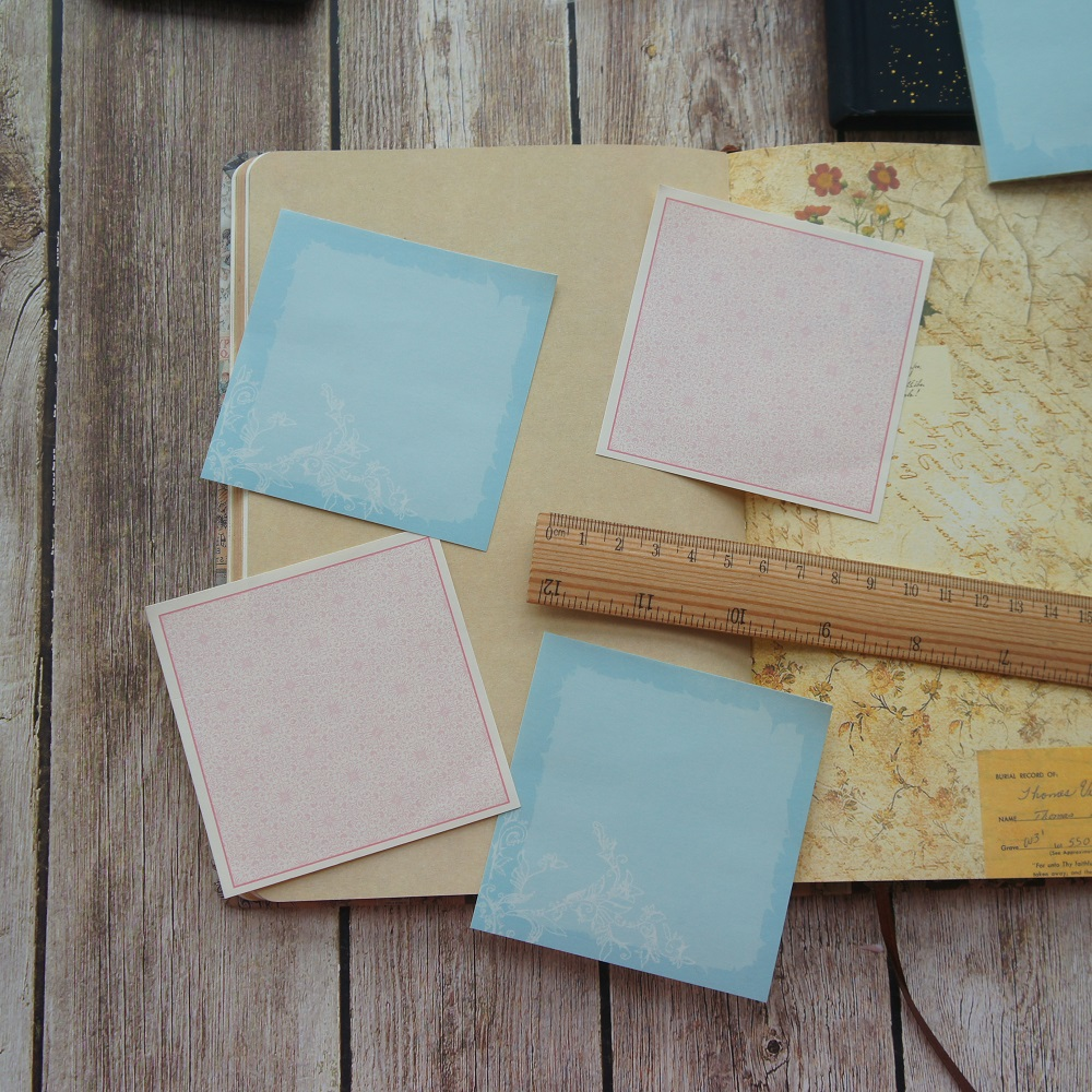 30pcs DIY light color blue pink Paper As Creative Craft Paper Background Scrapbooking DIY Use(China)