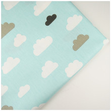 syunssblue back gray black cloud print cotton twill fabric sewing baby toy bedding quilt