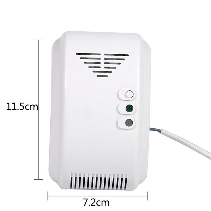 DC12V Security LPG Natural Gas Leak Sensor Detector For Home Kitchen 10