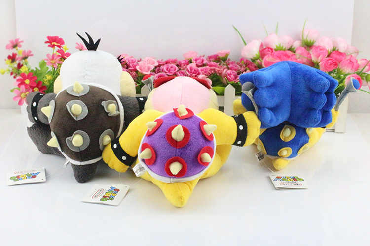 7 adet/grup süper Mario Bros peluş oyuncaklar 7 inç Koopa serisi peluş bebek Wendy/Larry/Iggy/Ludwig/ roy/Morton/Lemmy O. koopa