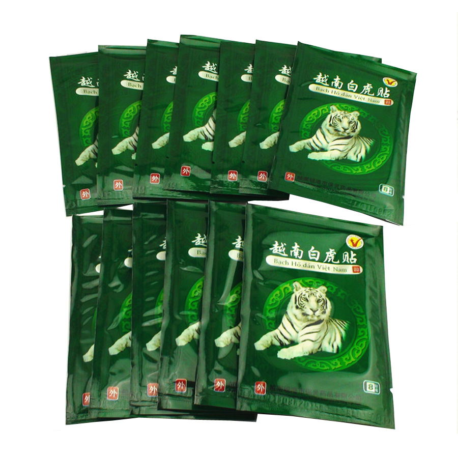 104 Pcs Pain Relief Arthritis Capsicum Plaster Vietnam White Tiger Balm Patch Cream Body Neck Massager Meridians Stress  C161 9 sheets lot tiger balm patch plaster tiegao warm medicated pain relief plaster rd relief of muscular aches and pains mp0033