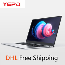 YEPO Laptop 15.6 inch 6GB RAM 64GB eMMC 1TB HDD 256GB SSD Quad Core Ultra-thin N
