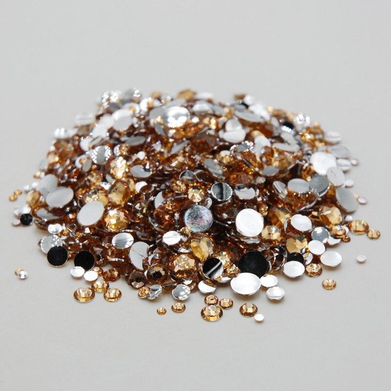 1000Pcs Claro Cristal Diamante Pedrería Gemas de reverso plano 3//4//5mm