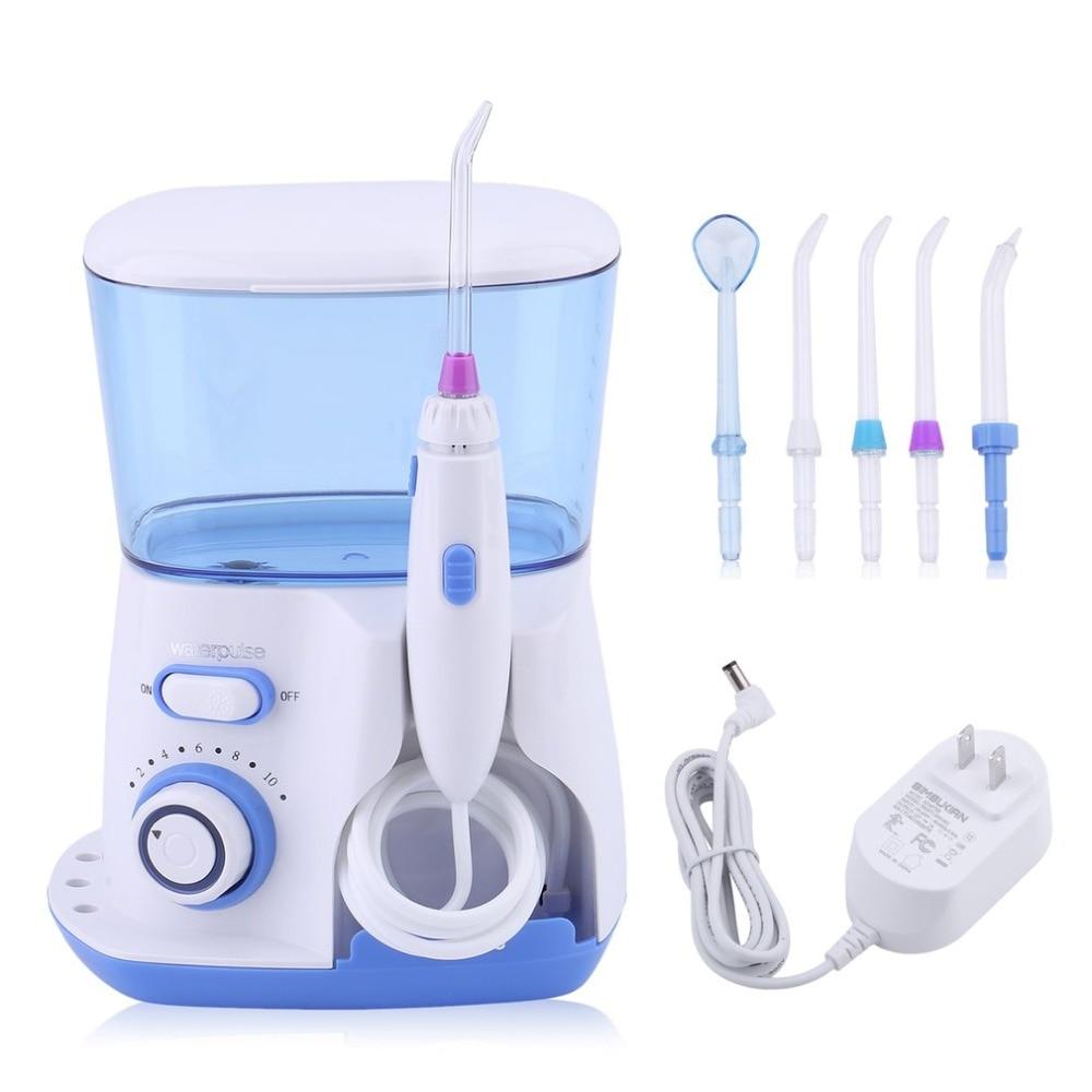 800ML Oral irrigateur Jet d'eau choisir fil dentaire dents Flosser ensemble Hydro nettoyeur de dents outil de blanchiment des dents US Plug