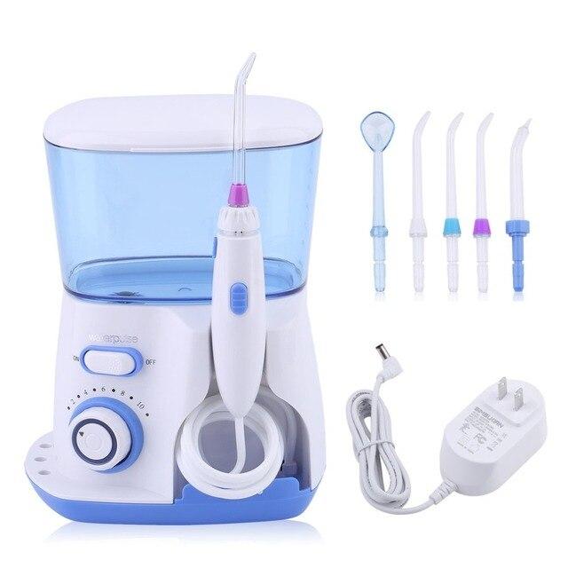 Waterpulse 800 ml Oral irrigador Jet Pick dientes hilo Dental Flosser Hydro conjunto limpiador de dientes blanqueamiento herramienta ee.uu. enchufe