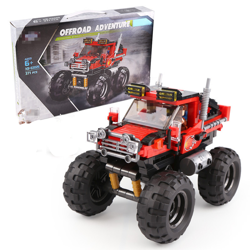 Super Big Foot Red Car Set Off-Road Vehicle Model Building Blocks kits Technic Bricks Toy for Boy Educational Children image