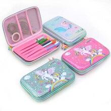 unicorn pencil case Cat kalem kutusu Kawaii trousse scolaire stylo Flamingo pencilcase estojo escola box