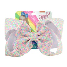 цена на JOJO Siwa Bbay Hair Bow Clips Rainbow 8Inch Large Sequins Glitter Sparkly Boutique Alligator Clips for Girls Teens Cheer Bow