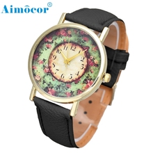 Women  Clock  Leather Band Watch Analog Quartz Dial Hour Wristwatch  Z504 5Down