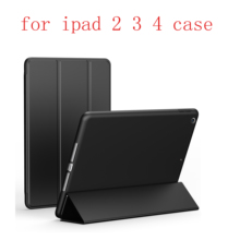 Case For iPad 2 3 4 TPU soft shell Leather Siamese Flip Smart Cover Auto Sleep/Wake Up
