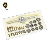 PEGASI 30 Pieces Micro Tap And Die Many Hands Touch And Die Small Metrics Click And Die Set Of Stamps