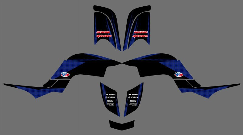 New Style DECALS STICKERS Graphics Kits FIT for Yamaha RAPTOR 660 YFM660 ATV ...