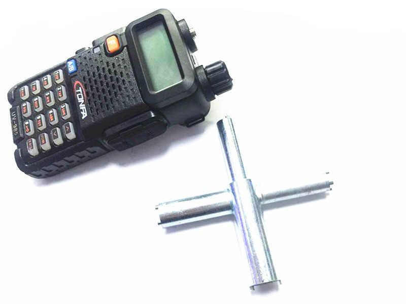 """Oppxun иди и болтай Walkie Talkie """"иди и крест Тип X ключ Ремонт инструменты удаления основание антенны для BAOFENG UV-5R 888 S MOTOROLA GP338"""
