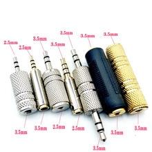 3 шт./лот 2,5 мм/3,5 мм Женский аудио адаптер соединитель стерео F/F удлинитель аудио штекер конвертер мужчин и женщин