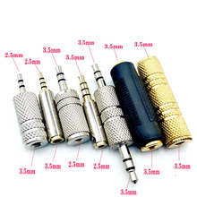 2.5mm/3.5mm Female To Female Audio Adapter Connector Coupler Stereo F/F Extension Audio plug Converter Male to female areyourshop sale 10pcs adapter 90 degree uhf plug male pl259 to so239 female connector right angle m f ptfe brass