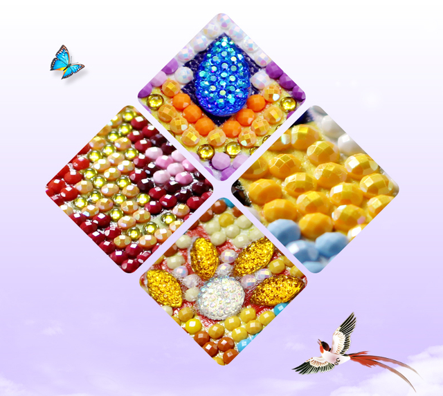 5D DIY Diamond Painting Beautiful Flower Picture 3D Diamond Embroidery Full Drill Cross Stitch Rhinestone Mosaic Painting