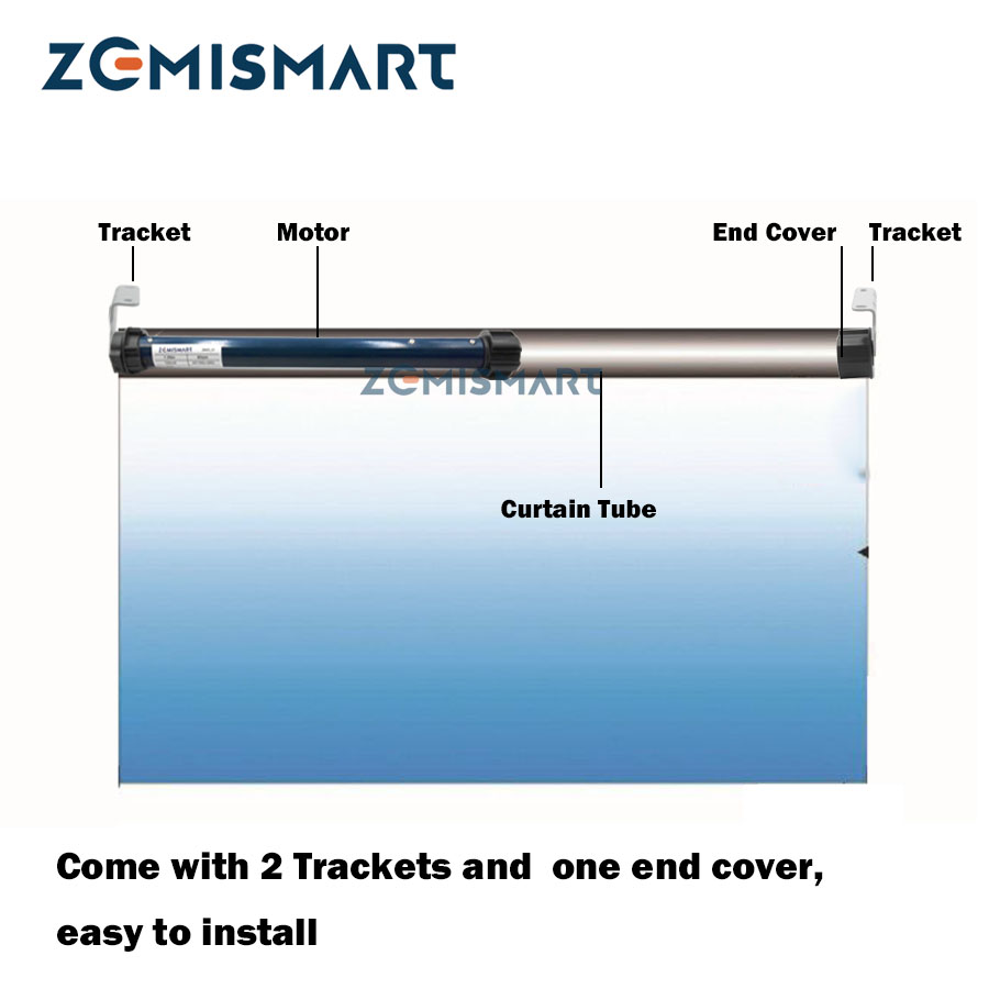 Zemismart 25mm Smart Roller Shade Motor for 38mm Tube RF Electric Roller Shutter Blind Engine work with Broadlink