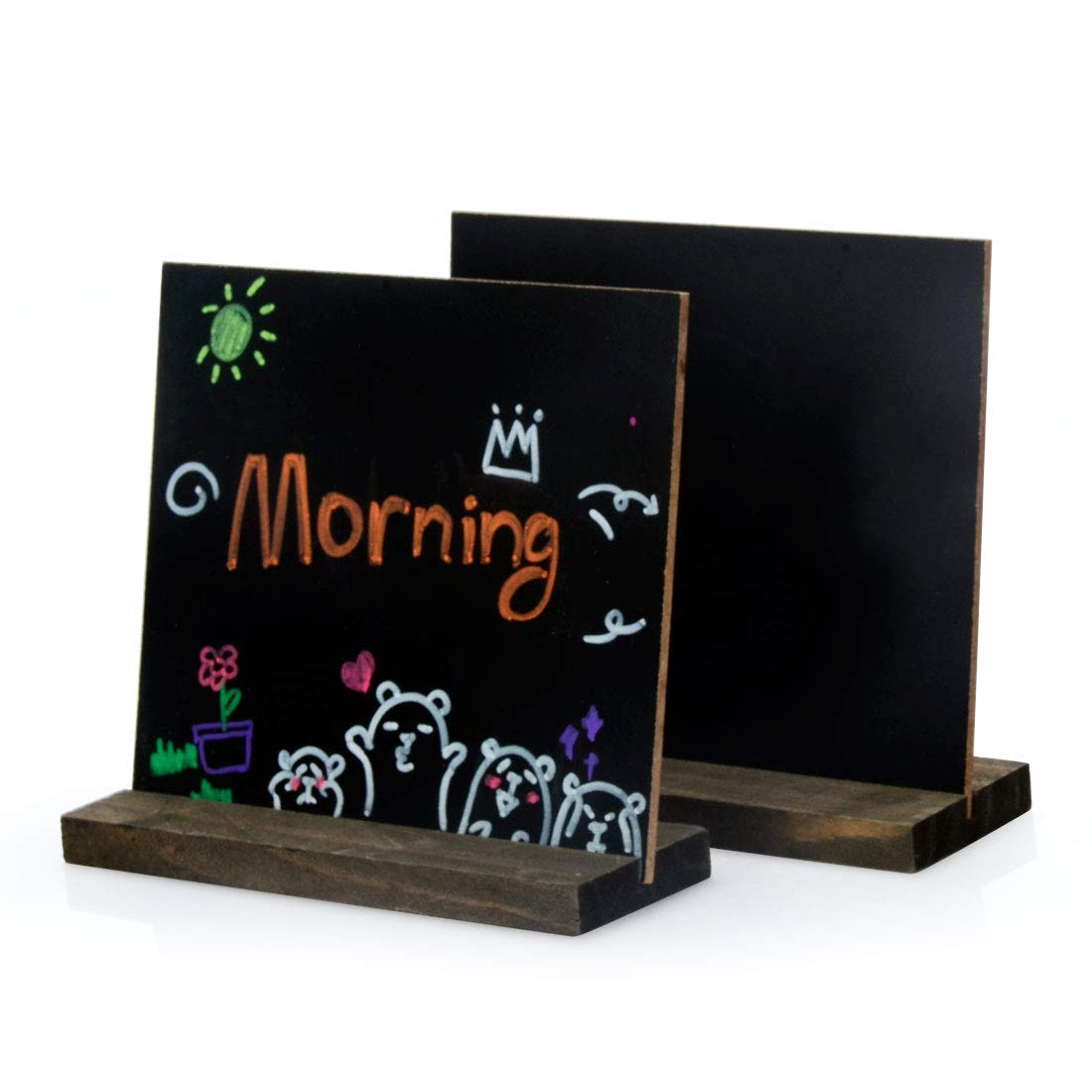 Awesome Us 11 93 18 Off New 8 Pack Mini Chalkboard Signs Vintage Wooden Tabletop Chalkboard Sign With Base Stand Framed Message Small Chalkboard Sign In Download Free Architecture Designs Scobabritishbridgeorg