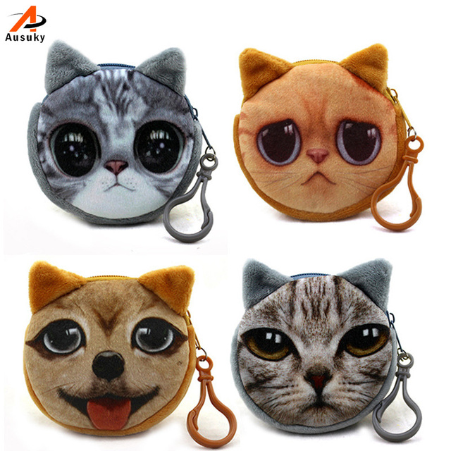 women bag Ausuky High Quality Coin Purse of Plush Children Lovely Money Bags  Gifts Women Storage Wallets 30