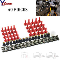 FOR honda CBR 600 F2,F3,F4,F4i CBR600RR 40PCS Motorcycle Windshield Fairing Bolts Nuts Screws Washer Kit Fastener Clips Screws
