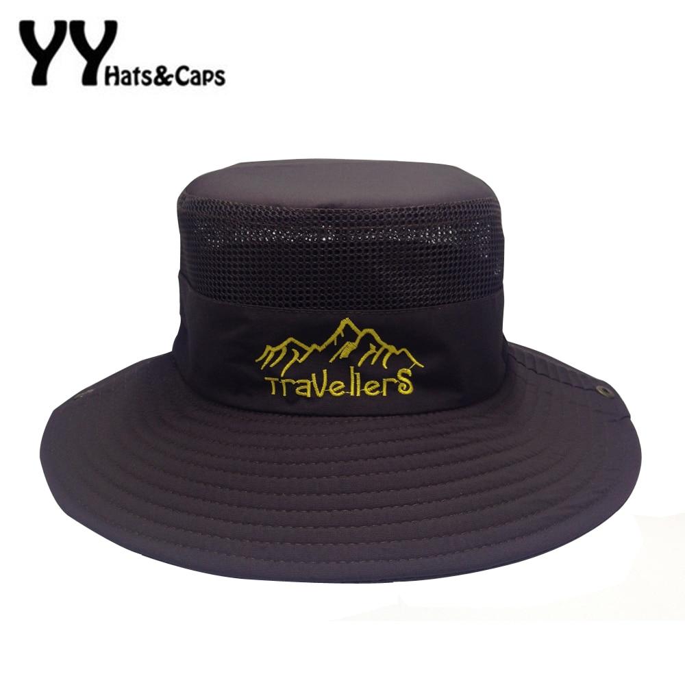 Summer wide brim fishing hat for man travel uv protection for Wide brim fishing hat