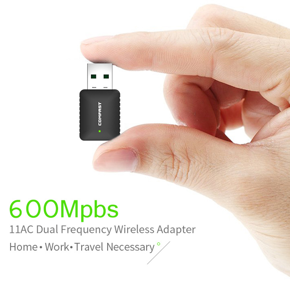 AC600 Dual Band 600Mbps Wireless USB WiFi Network Adapter Card 2.4//5Ghz 802.11AC