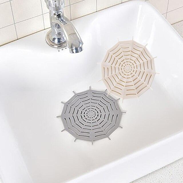 1 Pc 蜘蛛の巣浴室シンクフィルター洗面浴槽の下水道ストレーナー抗ブロッキング床ドレンカバーキッチンアクセサリー