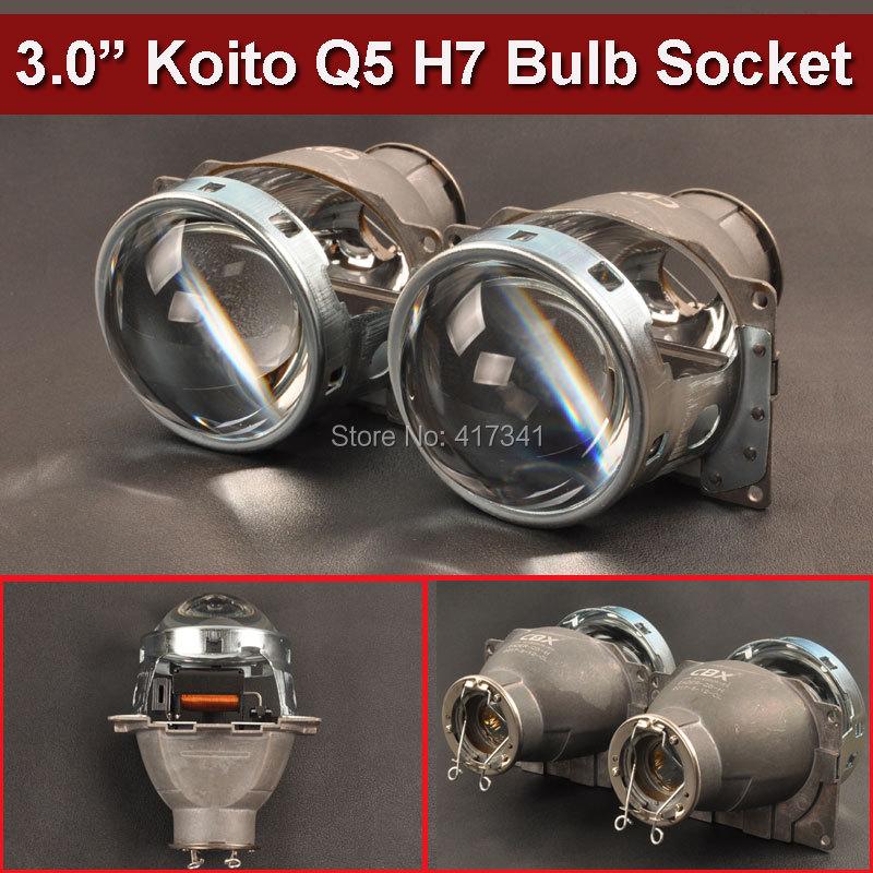 Auto Styling Projektor Objektiv 3 Zoll Q5 Koito Bi-xenon HID Bi-xenon Projektorobjektiv LHD Mit H7 Hid-lampe mit/ohne Wanten
