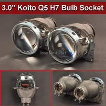 Car Styling Projector Lens 3 Inches Q5 Koito Bi-xenon HID Bi-xenon Projector Lens LHD Using H7 HID Lamp with/without Shrouds