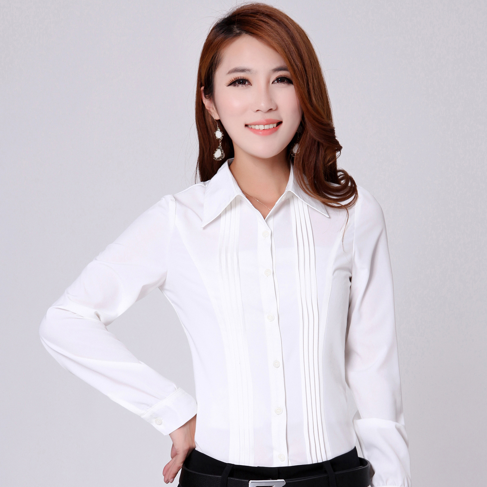 Buy Elebodystore Woman White Long Sleeve