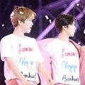 KPOP EXO CHANYEOL SEHUN EXO-K hpeiypei Álbum Camisetas K-POP con Ropa Casual de Algodón, Camiseta, Camiseta de Manga Corta Tops T-shirt DX369