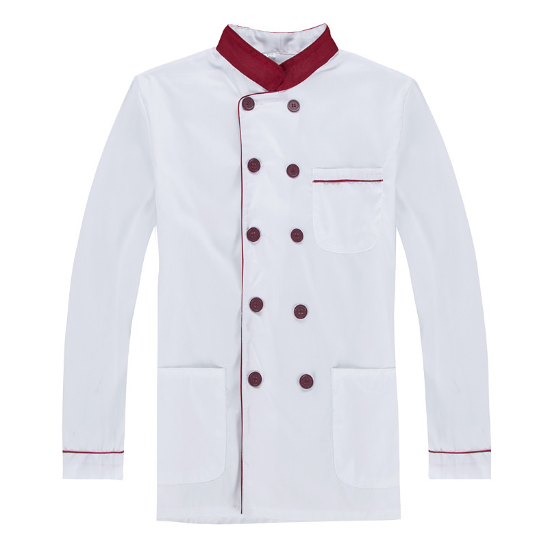 Chef clothing long sleeve men and women uniforms canteen restaurant hotel cake room kitchen clothing fall and winter clothes image