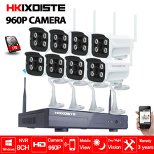 8CH 960P Wireless NVR CCTV System Set P2P 8pcs WIFI IP Camera Outdoor 1.3MP Waterproof Security Video Surveillance Kit