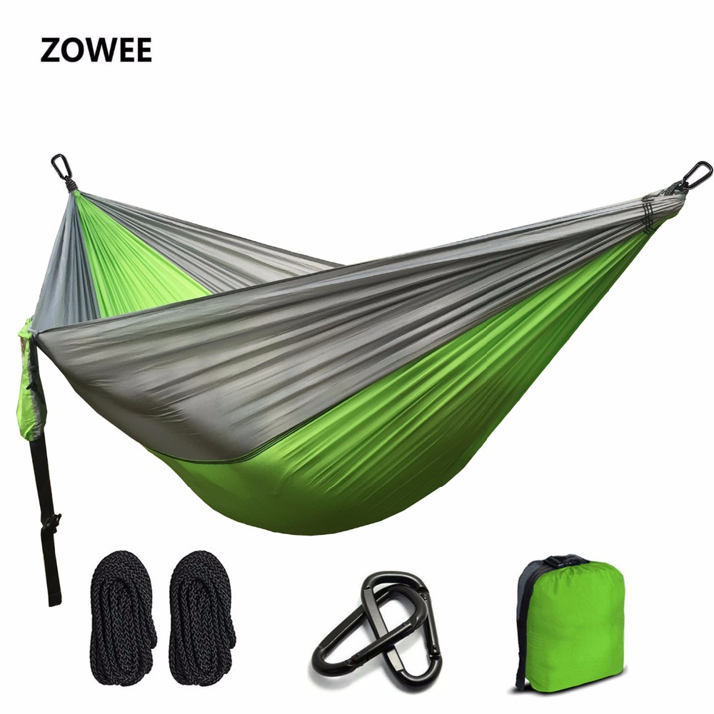 Portable Hammock person camping survival Outdoor Parachute Nylon Hammock Double Person Leisure travel Parachute Hammocks