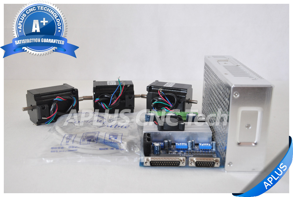 3 axis cnc kit nema 23 dual shaft 255oz in stepper motor for 3 axis nema 23 stepper motor driver controller cnc kit