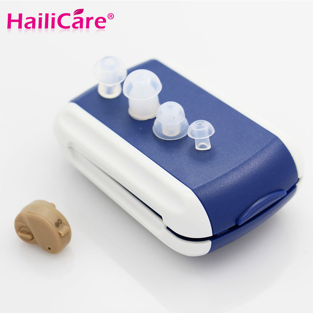 Mini In-ear Digital Audiphones Invisible Sound Enhancement Deaf Volume Sound Amplifier Adjustable Tone Hearing Aid Ear Plug Aid
