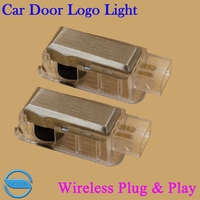 OCSION 2X LED Car Door Welcome Light For Skoda Octavia Superb Fabia Roomster Wireless 3D Projector
