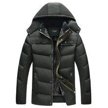 2018 новая зимняя куртка Для мужчин Повседневное стеганая куртка Для мужчин бренд пуховики и пальто теплые куртки пуховая парка Для мужчин Весте homme hiver