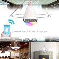Kolor BL05 3 W LED RGB Żarówka E27 Lampa Lampy Sterowania Muzyka Głośnik Bluetooth Inteligentny Inteligentny Pilot światło