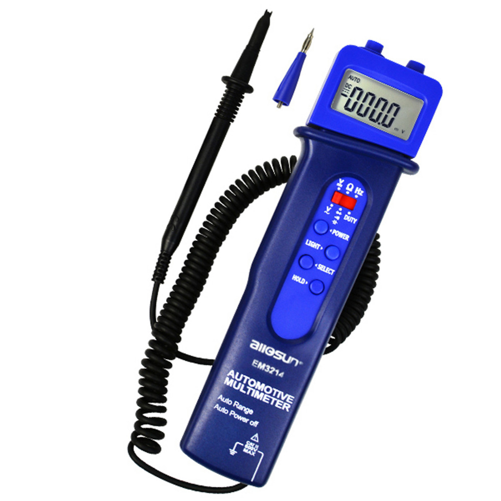 Digital Automotive Multimeter Vehicle Car Application Tester Test DC/AC Voltage Frequency Resistance Diode automotive multimeter test vehicle car battery dc ac voltage frequency resistance diode pen style tester