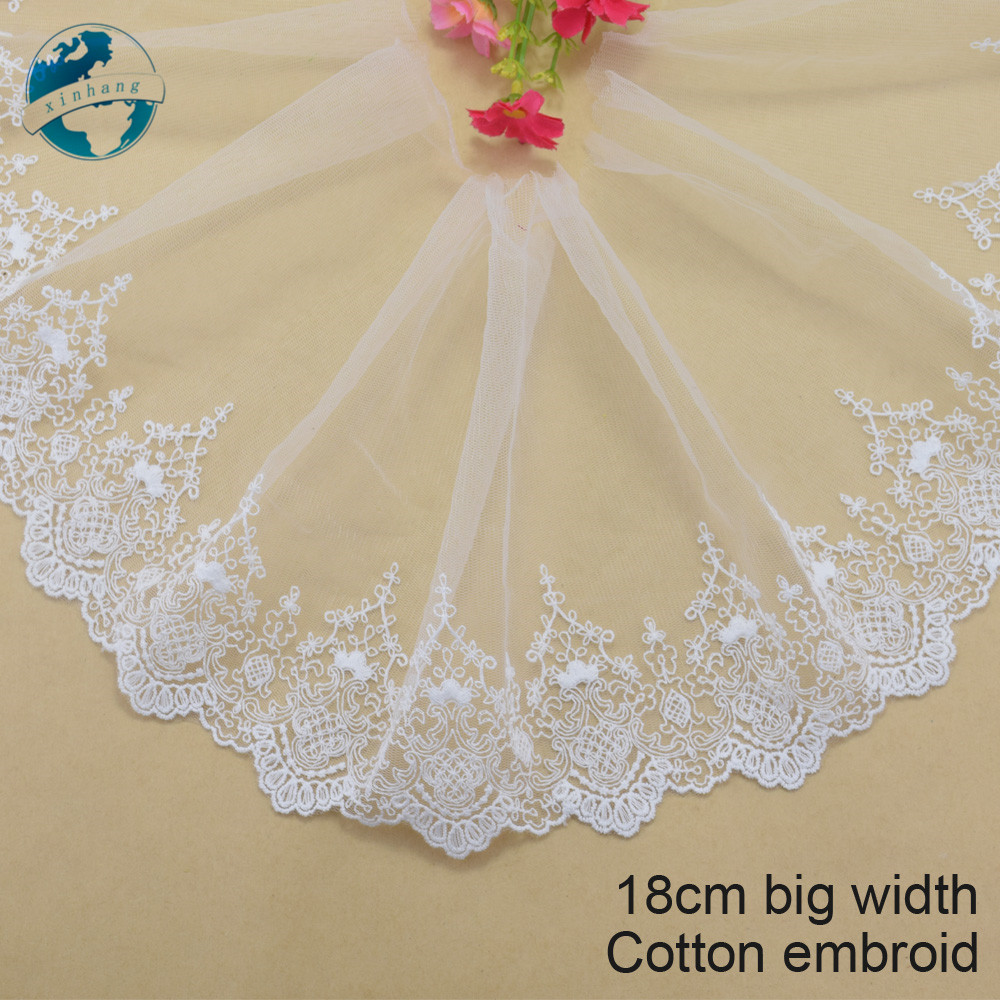JETEHO 10yards Pearl Beaded White Lace Ribbon Trim Wedding Trim Applique Embellishment Scrapbooking Home Decor Craft Projects