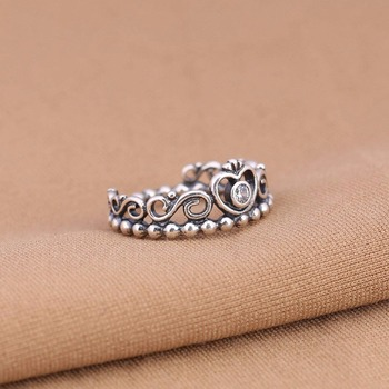 Princess Crown Ring With Clear Cubic Silver Ring